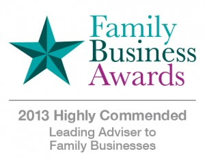 Leading Adviser to Family Businesses - Highly Commended