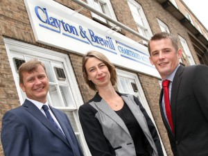 Neil South Yvonne Jackson and Doug Perry of chartered accountants Clayton & Brewill