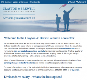 Preview of the Clayton & Brewill client update