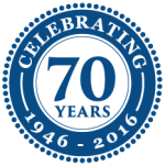 Clayton & Brewill 70th anniversary logo