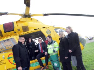 The Air Ambulance with members of the Clayton & Brewill team