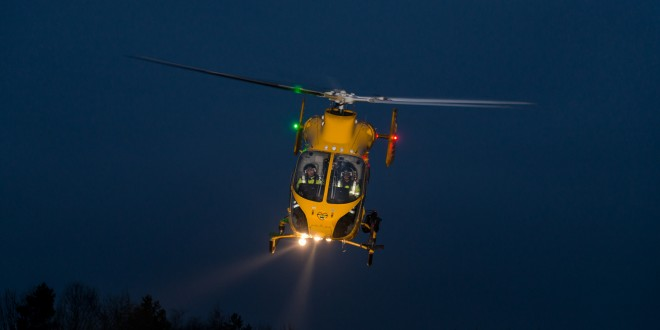 Lincolnshire and Nottinghamshire Air Ambulance on alight flight