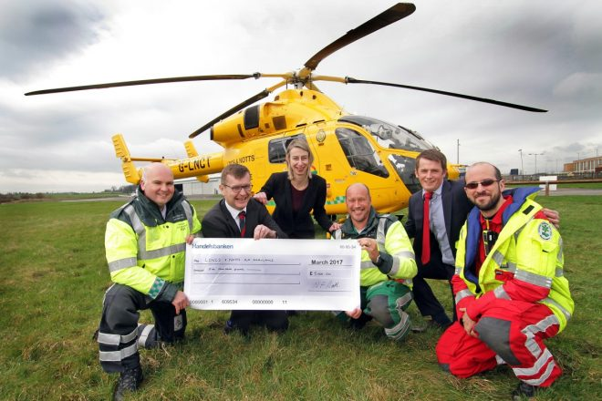 Clayton & Brewill raises £5000 for Lincs & Notts Air Ambulance