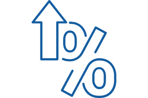 percentage increase